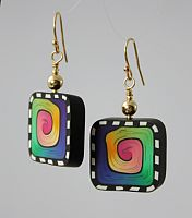 Color Spirals Earrings