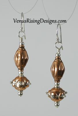 Copper & Silver Earrings