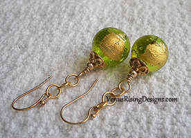 Gold and Lime Globes