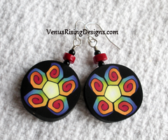 Multicolor Flower Earrings