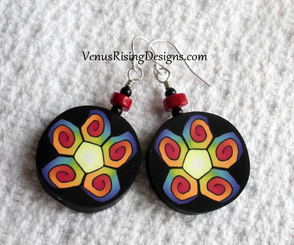 Multicolor Flower Earrings