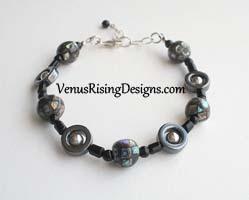 Paua Mosaic and Hematite Bracelet
