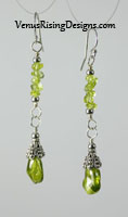 Peridot Drops Earrings