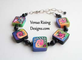 Polymer Clay and Black Onyx Bracelet II